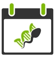 Sperm DNA Replication Calendar Day Flat Icon vector image vector image