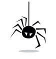 spider icon isolated sign vector image vector image