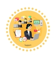 Support Concept Icon Flat Design vector image vector image