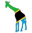 Tanzania giraffe vector image
