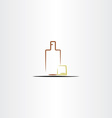 whisky glass and bottle icon vector image vector image