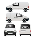 White Commercial Vehicle Mockup vector image vector image