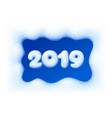 2019 new year on snow frosted background vector image