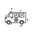 ambulance icon design vector image vector image