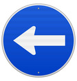 Blue Sign with Arrow Left vector image vector image