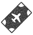 Boarding Pass Icon Rubber Stamp