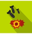 Bomb icon flat style vector image vector image