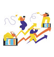 business people concept success reaching a vector image vector image