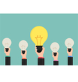 Businessman show the best idea concept vector image vector image