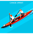 canoe double 2016 summer games isometric 3d vector image vector image