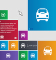 Car icon sign buttons Modern interface website vector image vector image