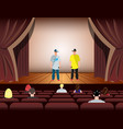 cartoon rapper on stage vector image vector image