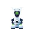 cartoon robot cyborg character ai tech vector image vector image
