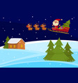 christmas banner of cute cartoon landscapes vector image vector image