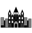 church cathedral in city icon image vector image