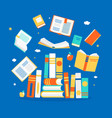 close and open books in different positions vector image vector image