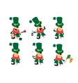 Collection of humor character for Saint Patricks vector image vector image