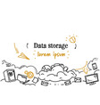computing cloud business data storage concept vector image vector image