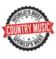 country music sign or stamp vector image vector image