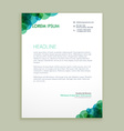 creative business letterhead identity vector image vector image
