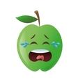 crying apple cartoon icon vector image