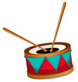 drum with two sticks vector image