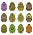 Easter egg design set vector image vector image