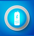 energy drink icon isolated on blue background vector image vector image
