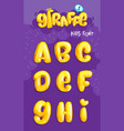 giraffe font 1set vector image