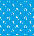 glasses champagne pattern seamless blue vector image