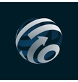 globe logo element symbol globalization vector image vector image