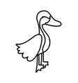 goose bird poultry farm cartoon animal thick line vector image vector image