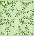 green leaves and branches in spring background vector image