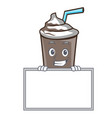 grinning with board ice chocolate character vector image vector image