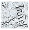 Handling Orlando Travel Arrangements For Your vector image vector image