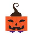 happy halloween cartoon pumpkin monster avatar vector image vector image