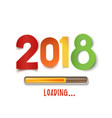happy new year 2018 design vector image vector image