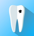 human tooth as a notepad Flat design vector image vector image