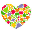 i like vegetables and fruit vector image vector image