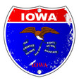 iowa flag icons as interstate sign vector image vector image