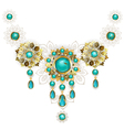 Jewelry with Turquoise vector image vector image