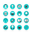 learning flat icon set vector image vector image