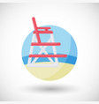 lifeguard chair flat icon vector image vector image