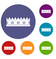 little crown icons set vector image vector image