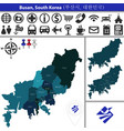 map of busan with districts south korea vector image vector image