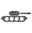military tank composition of squares and circles vector image