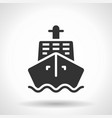 monochromatic ship icon with hovering effect vector image vector image