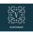 Monogram Design Template with Letter Premium vector image vector image