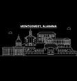 montgomery silhouette skyline usa - montgomery vector image