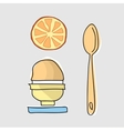 Morning breakfast with egg vector image vector image